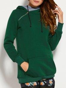 Drawstring Double Hooded Sweatshirt