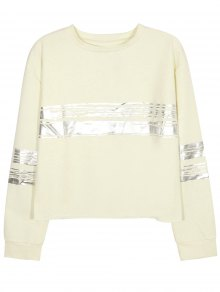 Metallic Stripe Crew Neck Sweatshirt