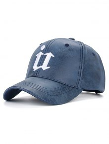Outdoor U Letter Printed PU Leather Baseball Hat