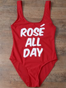 Rose All Day Swimsuit - Red S