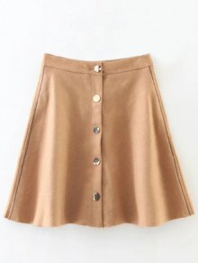 Wool Blend Flounce Mini Skirt