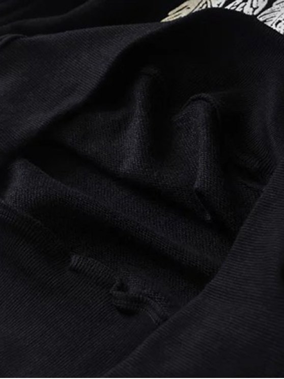 Aztec Feathers Print Sweatshirt - BLACK S Mobile