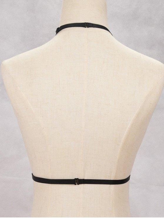 Hollowed Bra Bondage Harness Body Jewelry - BLACK  Mobile