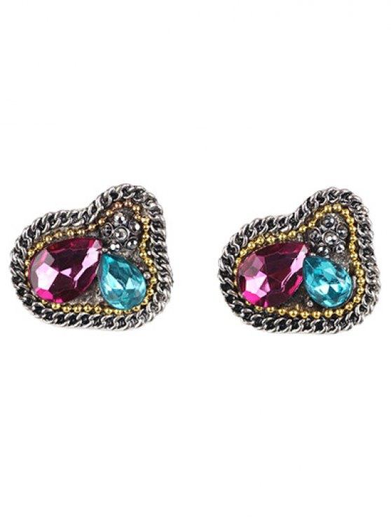 Boucles d'oreilles vintage ornent bijoux artificiel - Multicolore