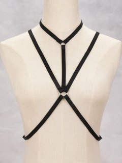 Geometric Bra Bondage Harness Body Jewelry - Black
