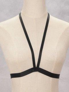 Bra Bondage Harness Body Jewelry - Black