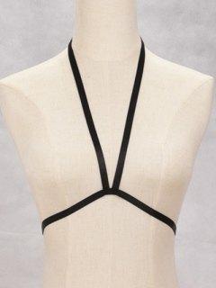 Bra Bondage Harness Elastic Body Jewelry - Black