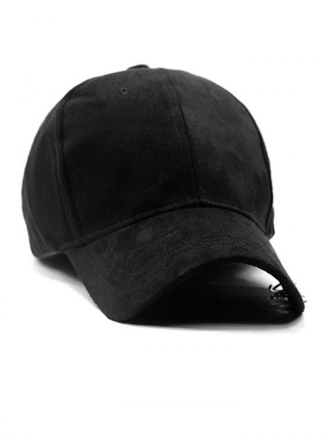 unique Outdoor Iron Circle Pleuche Baseball Hat - BLACK  Mobile