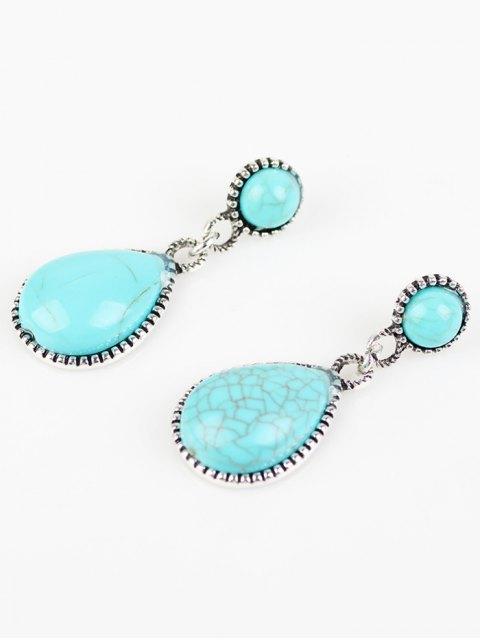 boucles d 39 oreilles goutte d 39 eau boh mien turquoise artificielle bleu ciel boucles d 39 oreilles. Black Bedroom Furniture Sets. Home Design Ideas