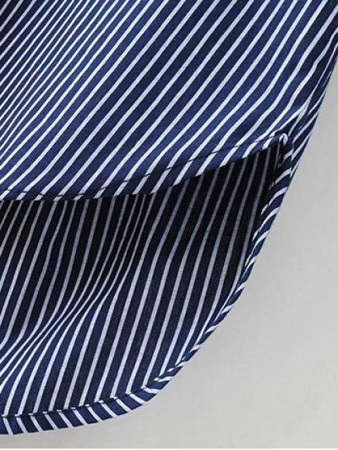 new Patch Pocket Striped Blouse - WHITE L Mobile