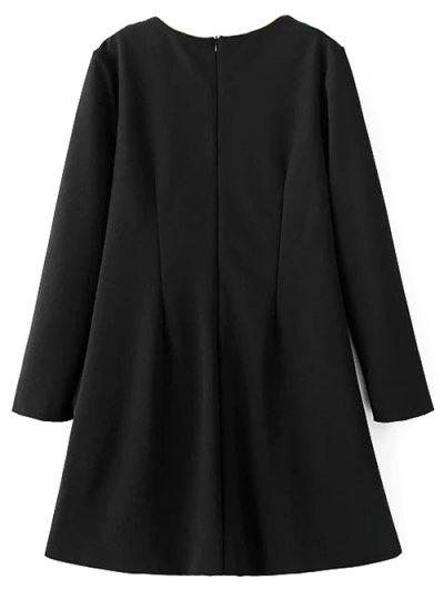 Tasselled Chevron Tunic Dress - BLACK XL Mobile