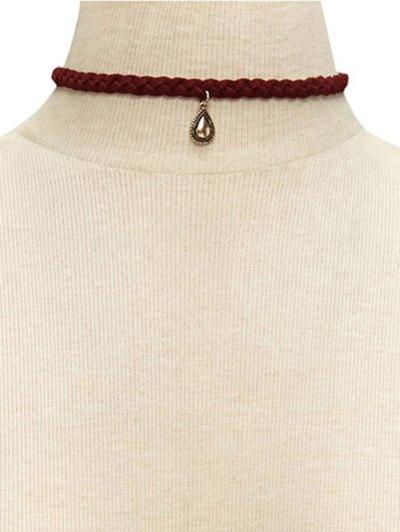 Weaving Neckband Water Drop Choker Necklace