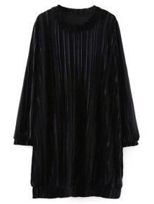 Hemline élastiques Robe De Velours Relaxed - Noir M