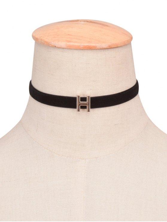 collier velours ras-du-cou avec une lettre de A - 08#