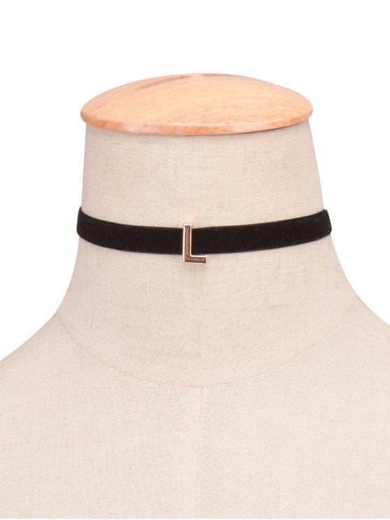 collier velours ras-du-cou avec une lettre de A - 12#