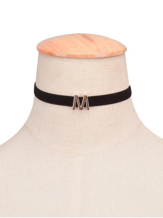 collier velours ras-du-cou avec une lettre de A - 13#