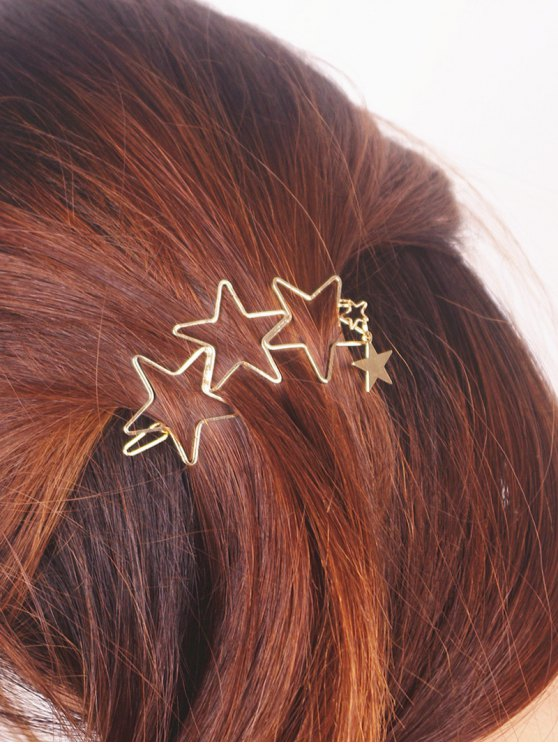 sale Hollow Out Star Hairpin - GOLDEN