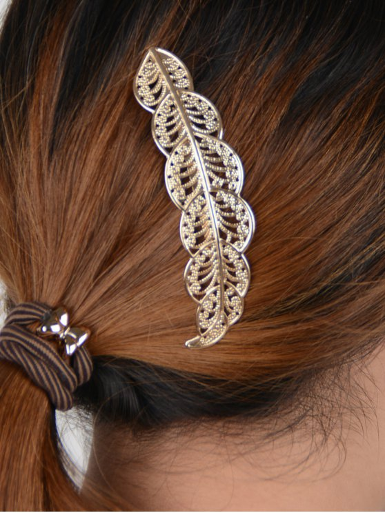 Openwork Leaf Hairpin -   Mobile