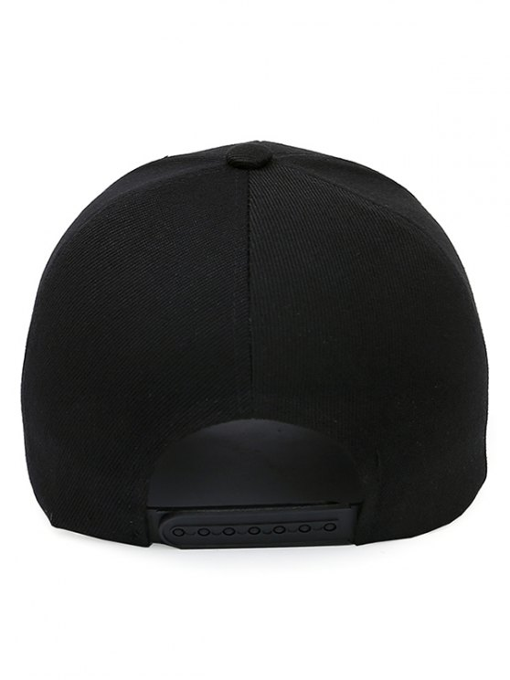 Letter M Baseball Cap - JET BLACK  Mobile