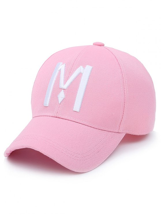 buy Letter M Baseball Cap - LIGHT PINK