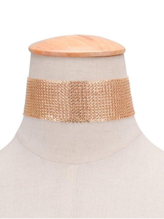Collar Gargantilla cobre de las lentejuelas retro - Dorado