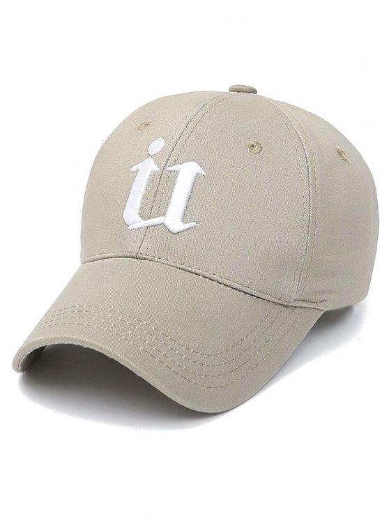 Letter U Baseball Hat - CAMEL  Mobile