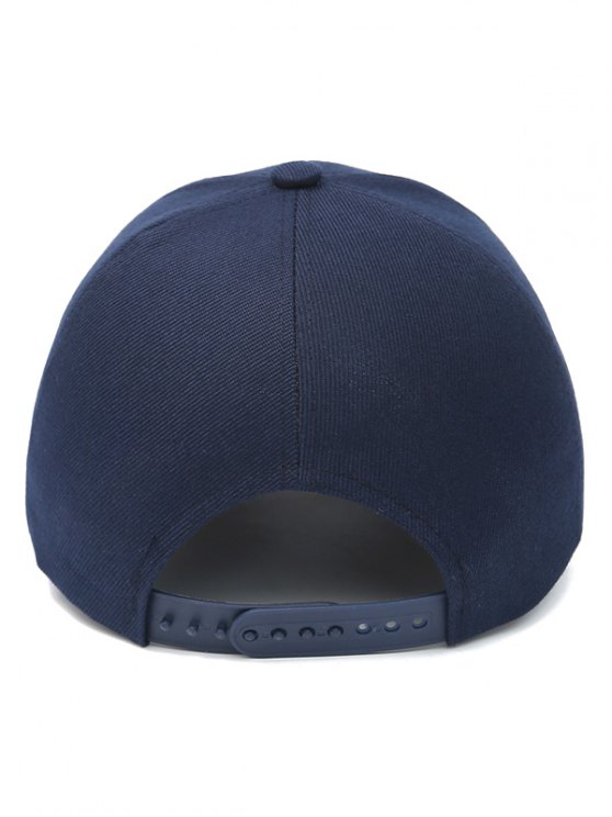 Letter W Baseball Hat - PURPLISH BLUE  Mobile