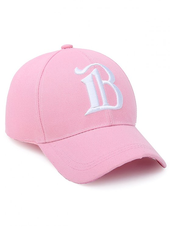 B Letter Baseball Hat - SHALLOW PINK  Mobile