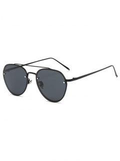 Cross Bar Pilot Sunglasses - Black
