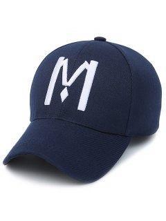 حرف M قبعة بيسبول - الأرجواني الأزرق