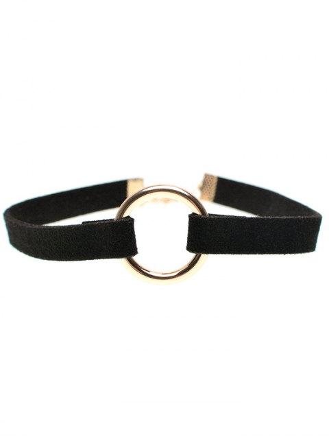 lady Velvet Strip Copper Coil Choker Necklace - BLACK  Mobile