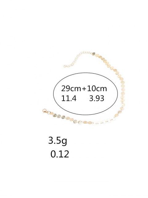 hot Copper Sequins Choker Necklace - GOLDEN  Mobile