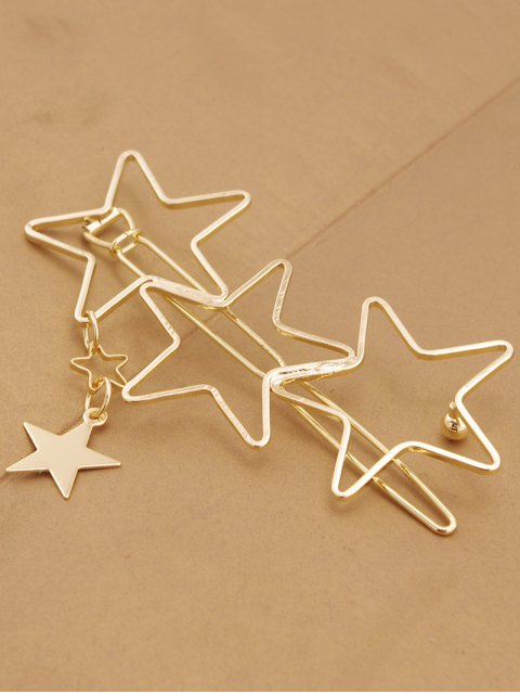 sale Hollow Out Star Hairpin - GOLDEN  Mobile