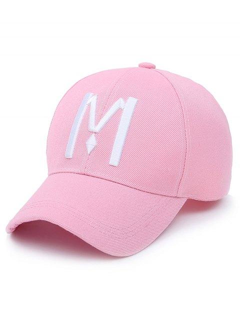 buy Letter M Baseball Cap - LIGHT PINK  Mobile