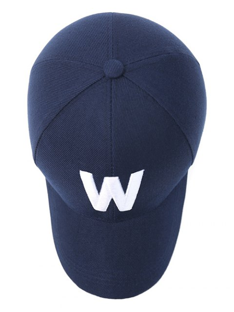 buy Letter W Baseball Hat - PURPLISH BLUE  Mobile