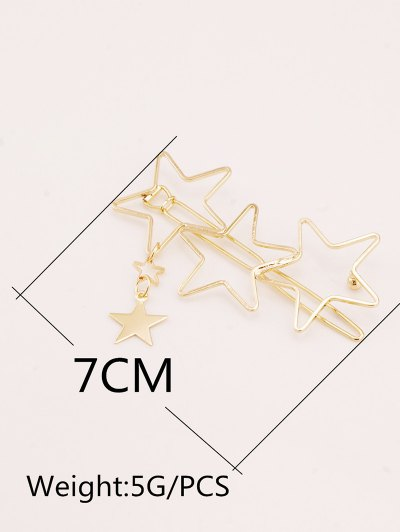 Hollow Out Star Hairpin - GOLDEN  Mobile
