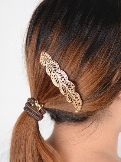 Openwork Leaf Hairpin - GOLDEN  Mobile