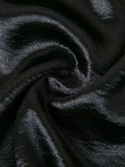 Off The Shoulder Velvet Smcok Top - BLACK M Mobile