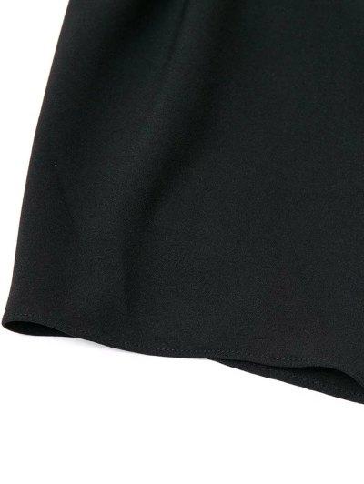 Off The Shoulder Crossover Back Smock Top - BLACK S Mobile