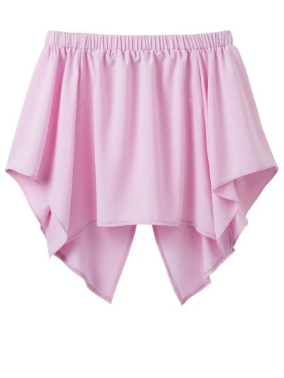 Off The Shoulder Crossover Back Smock Top - PINK M Mobile