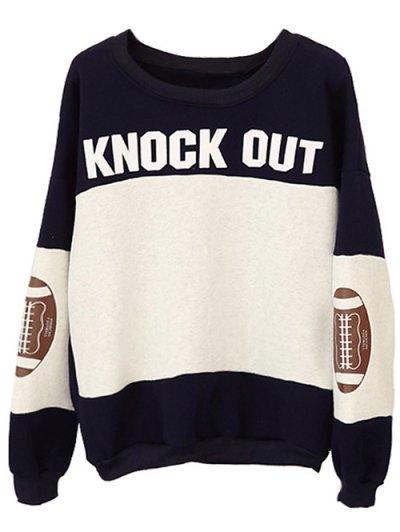 Color Block Oversized Sweatshirt - BLACK ONE SIZE Mobile