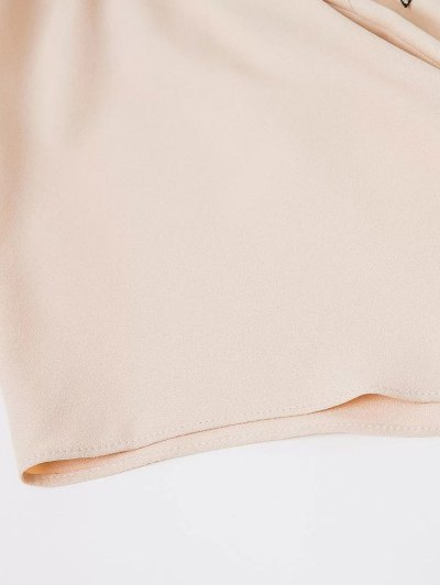 Crossover Back Off The Shoulder Smock Top - YELLOWISH PINK S Mobile