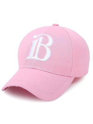 B Letter Baseball Hat - Shallow Pink