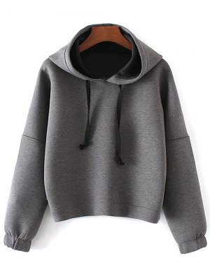 Space Cotton Hoodie - Gray