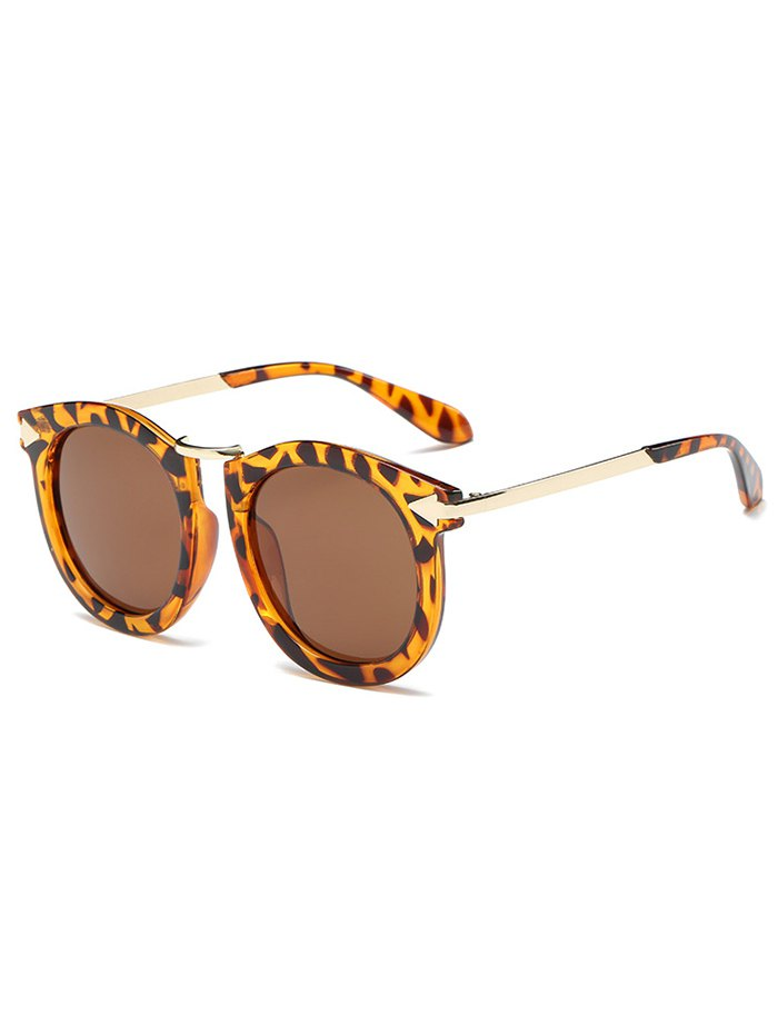 Leopard Pattern Oval Sunglasses