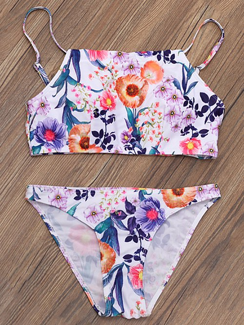 High Neck Floral Bikini
