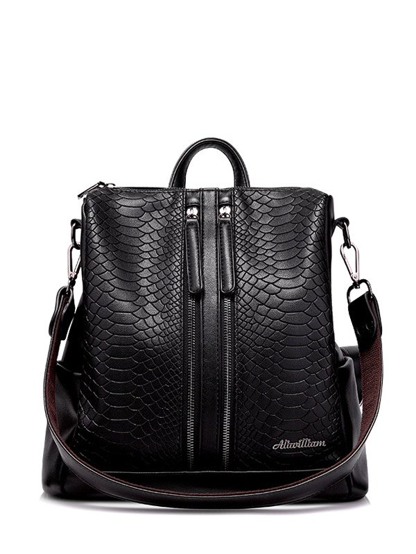 Snake Embossed Backpack