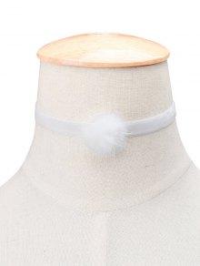 Buy Flannelette Ball Choker WHITE