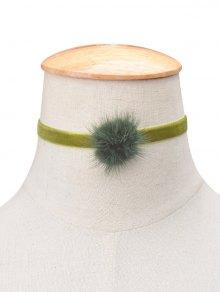 Buy Flannelette Ball Choker APPLE GREEN