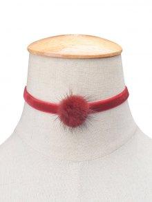 Buy Flannelette Ball Choker BURGUNDY